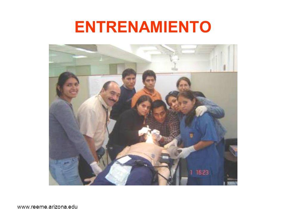 www.reeme.arizona.edu ENTRENAMIENTO