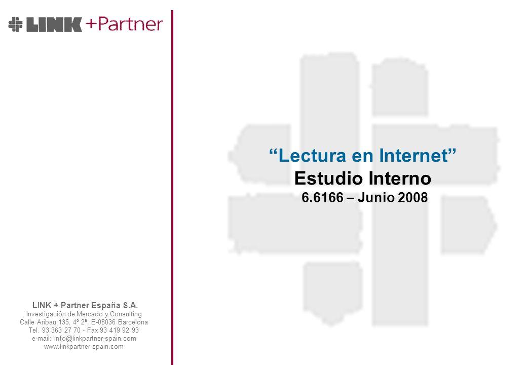 LINK + Partner España S.A. Investigación de Mercado y Consulting Calle Aribau 135, 4º 2ª, E-08036 Barcelona Tel. 93 363 27 70 - Fax 93 419 92 93 e-mai