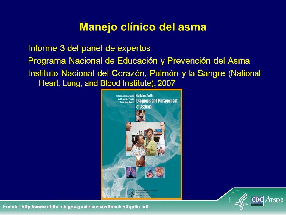 Manejo clínico del asma Informe 3 del panel de expertos Programa Nacional de Educación y Prevención del Asma Instituto Nacional del Corazón, Pulmón y