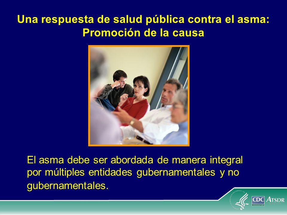 Una respuesta de salud pública contra el asma: Promoción de la causa El asma debe ser abordada de manera integral por múltiples entidades gubernamenta