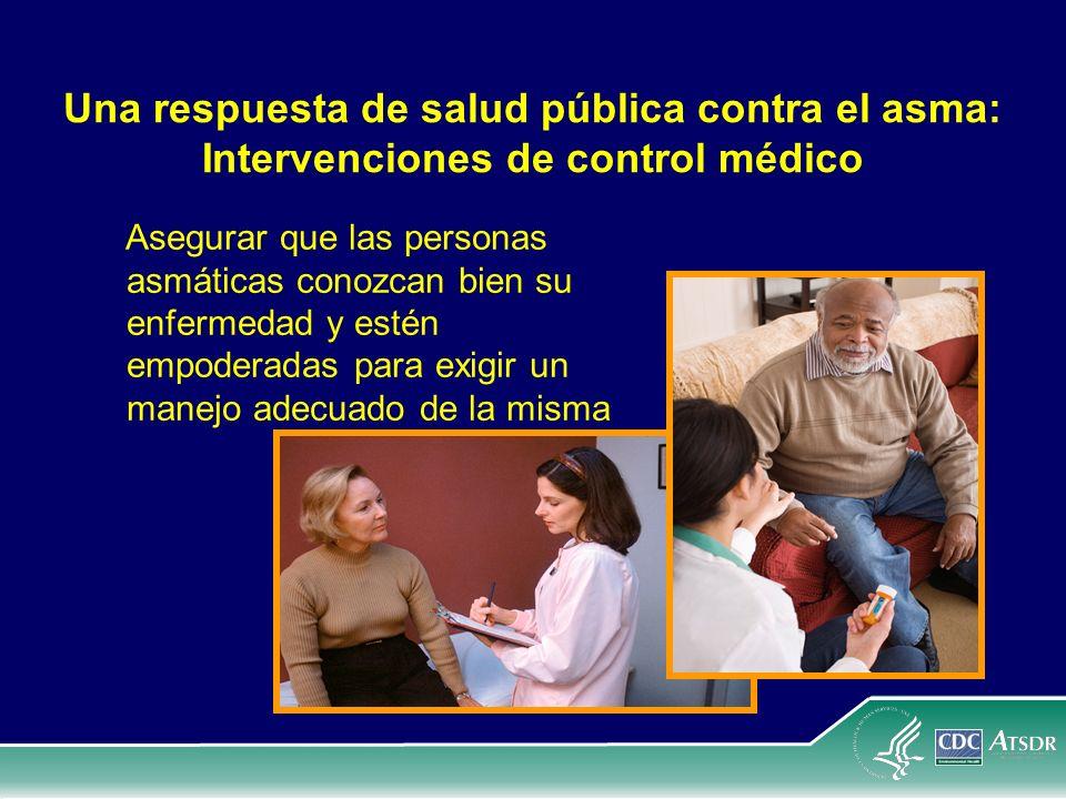 Una respuesta de salud pública contra el asma: Intervenciones de control médico Asegurar que las personas asmáticas conozcan bien su enfermedad y esté