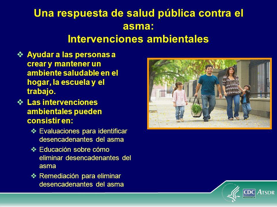 Una respuesta de salud pública contra el asma: Intervenciones ambientales Ayudar a las personas a crear y mantener un ambiente saludable en el hogar,