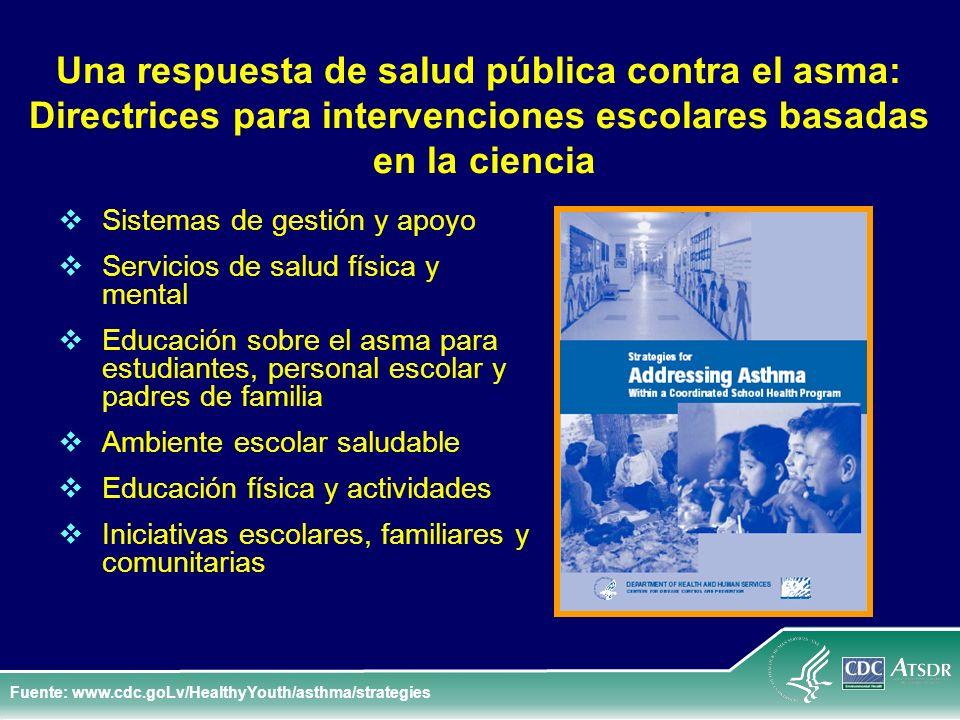 Una respuesta de salud pública contra el asma: Directrices para intervenciones escolares basadas en la ciencia Sistemas de gestión y apoyo Servicios d