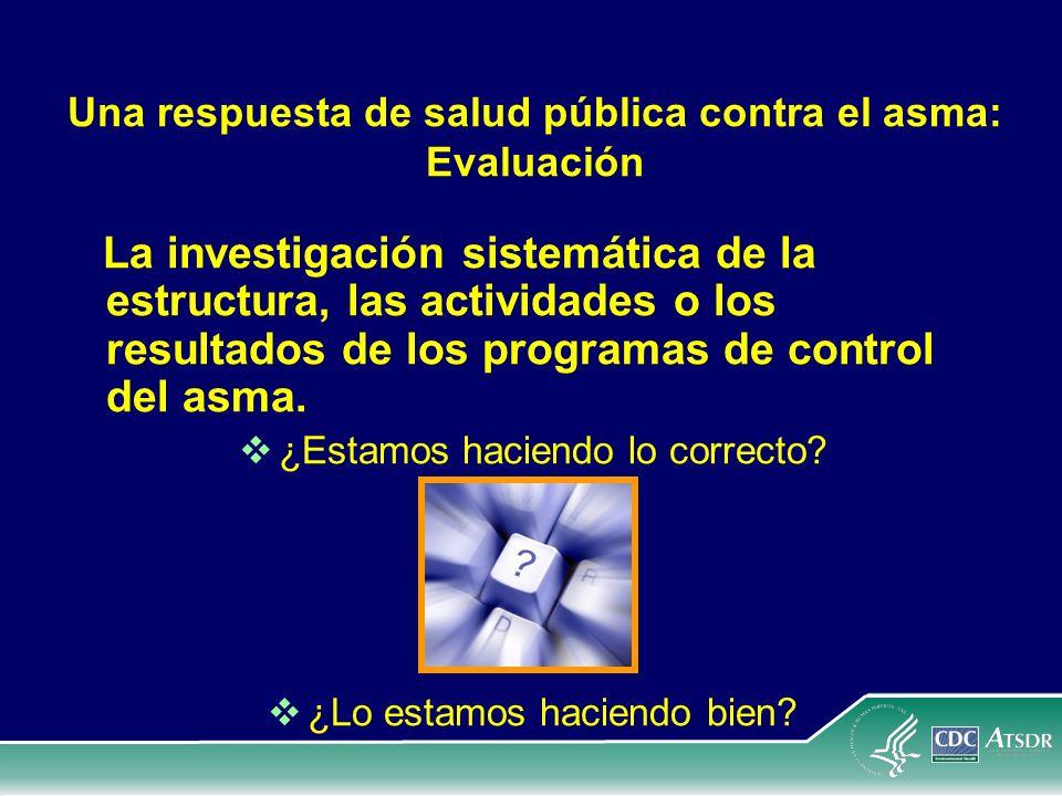 Una respuesta de salud pública contra el asma: Evaluación La investigación sistemática de la estructura, las actividades o los resultados de los progr