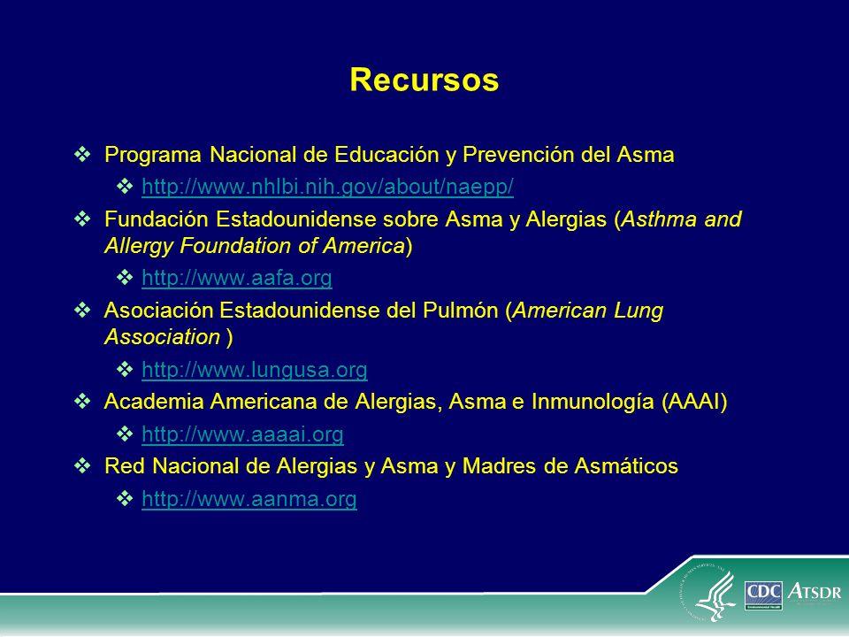 Recursos Programa Nacional de Educación y Prevención del Asma http://www.nhlbi.nih.gov/about/naepp/ http://www.nhlbi.nih.gov/about/naepp/ Fundación Es