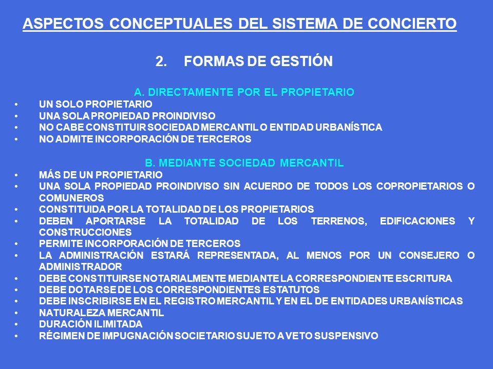 ASPECTOS CONCEPTUALES DEL SISTEMA DE CONCIERTO C.