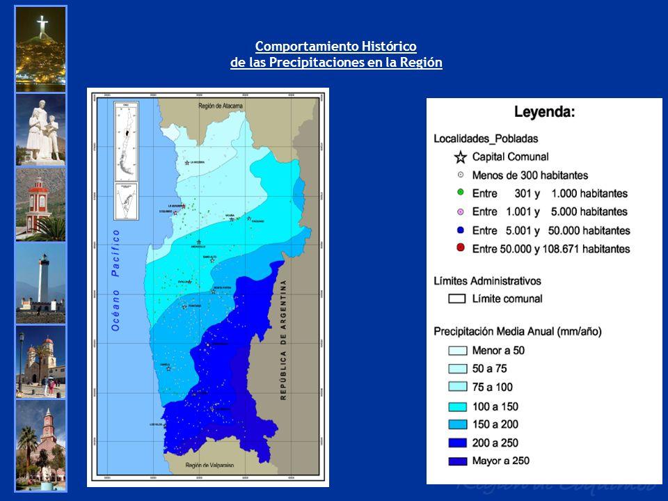 Comportamiento Histórico de las Precipitaciones en la Región