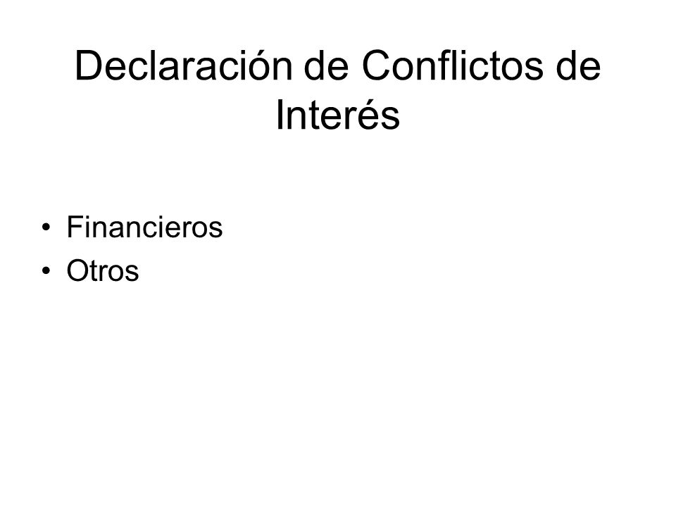 Declaración de Conflictos de Interés Financieros Otros