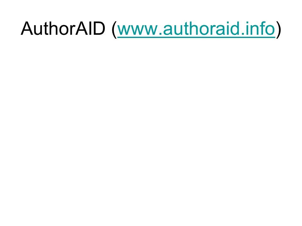 AuthorAID (www.authoraid.info)www.authoraid.info