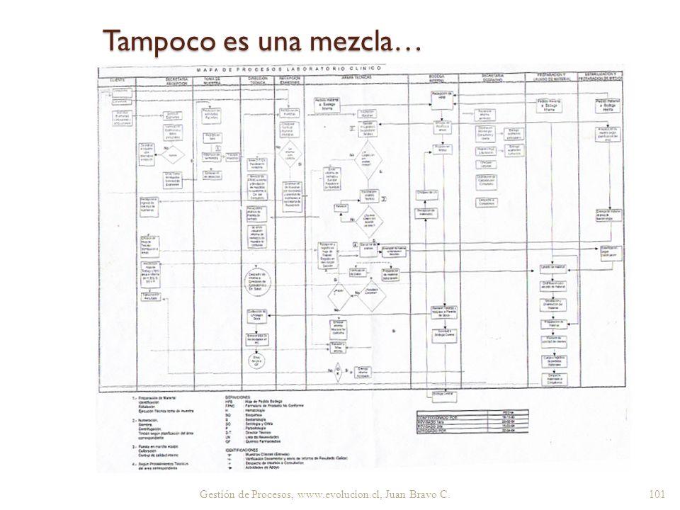 Tampoco es una mezcla… Gestión de Procesos, www.evolucion.cl, Juan Bravo C. 101