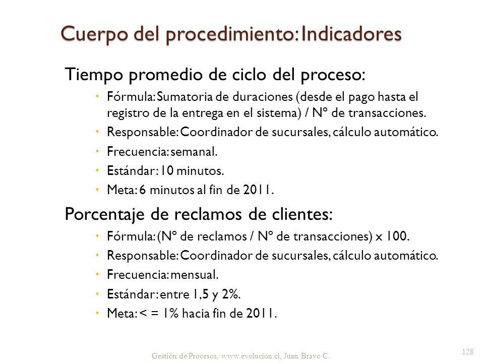 Tiempo promedio de ciclo del proceso: Fórmula: Sumatoria de duraciones (desde el pago hasta el registro de la entrega en el sistema) / Nº de transacci