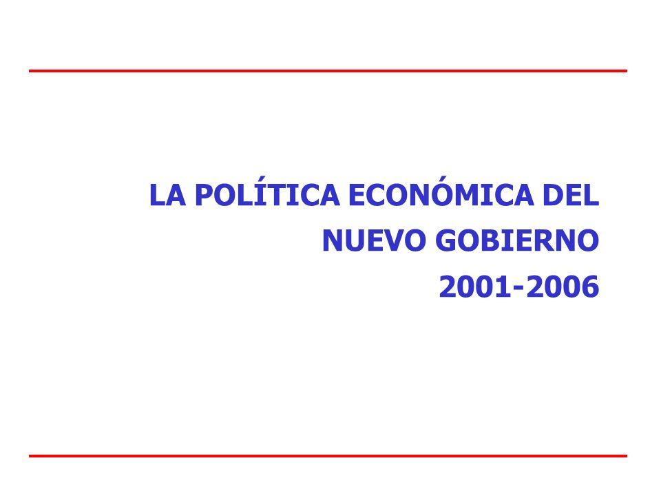 LA POLÍTICA ECONÓMICA DEL NUEVO GOBIERNO 2001-2006