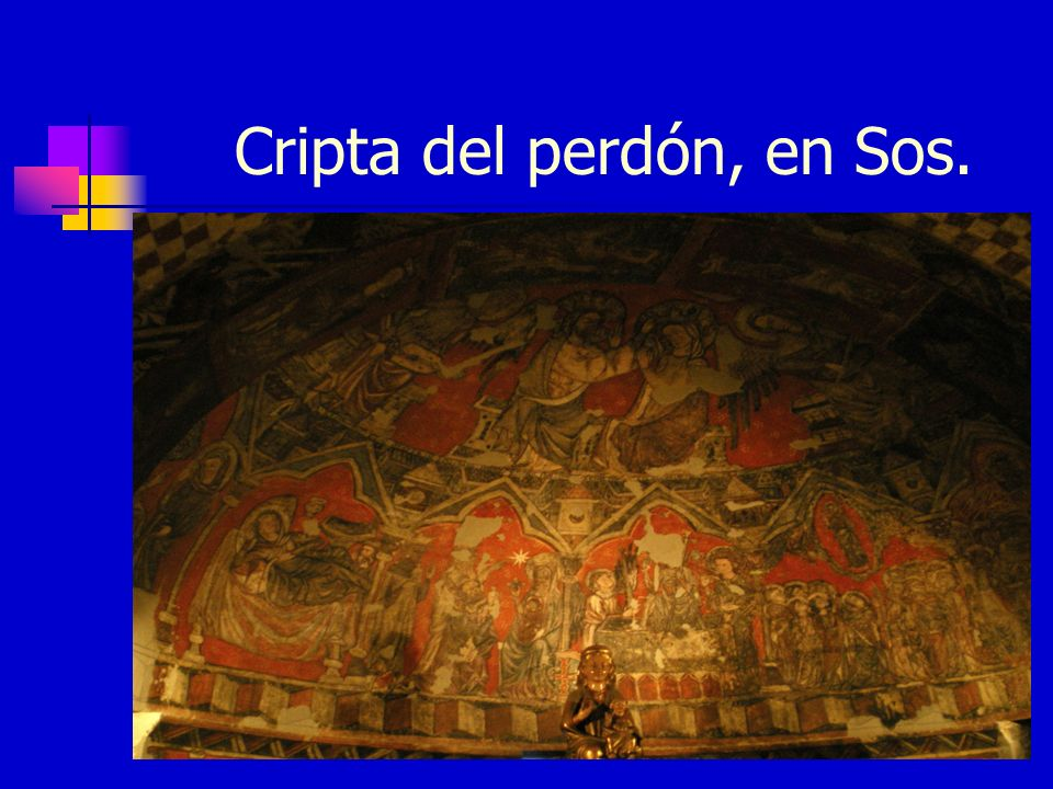 Cripta del perdón, en Sos.