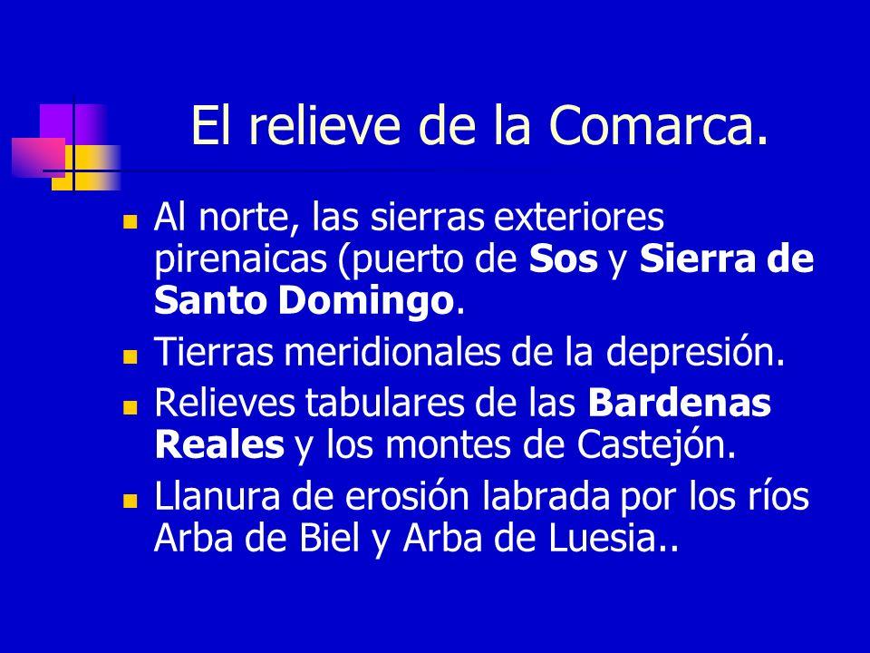 El relieve de la Comarca.