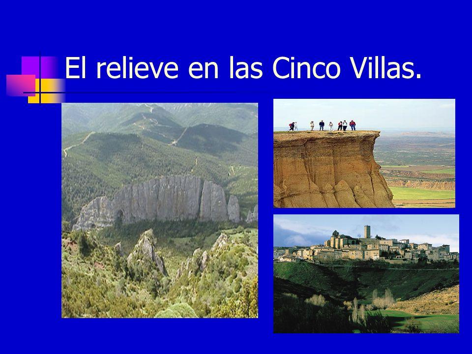El relieve en las Cinco Villas.