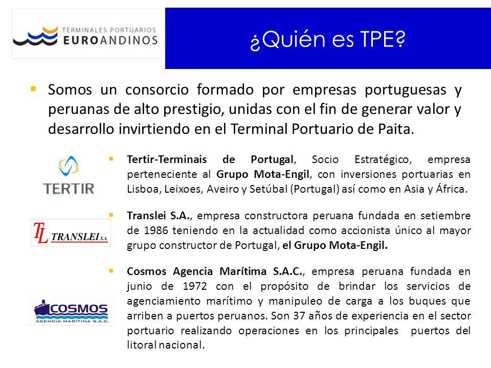 ¿Quién es TPE? Somos un consorcio formado por empresas portuguesas y peruanas de alto prestigio, unidas con el fin de generar valor y desarrollo invir