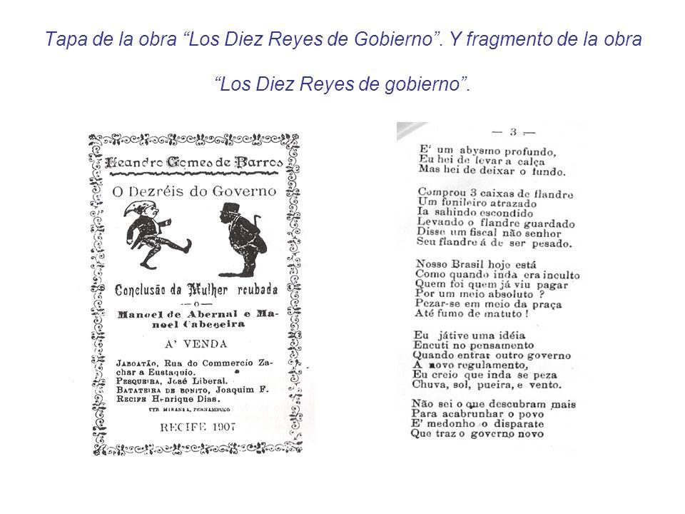 Tapa de la obra Los Diez Reyes de Gobierno. Y fragmento de la obra Los Diez Reyes de gobierno.