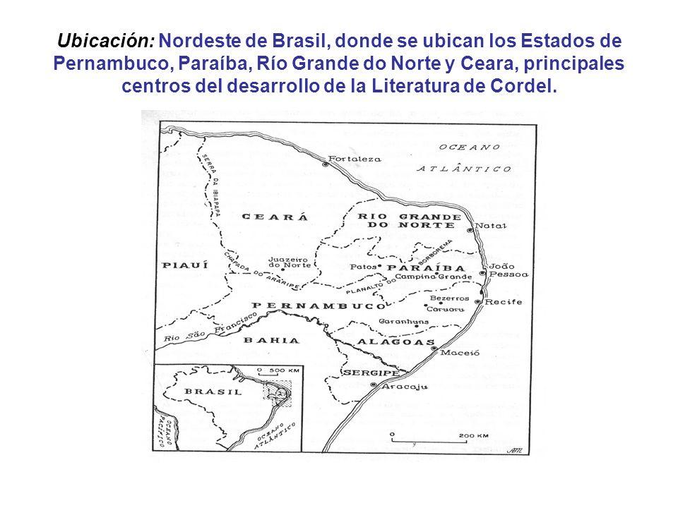 Ubicación: Nordeste de Brasil, donde se ubican los Estados de Pernambuco, Paraíba, Río Grande do Norte y Ceara, principales centros del desarrollo de