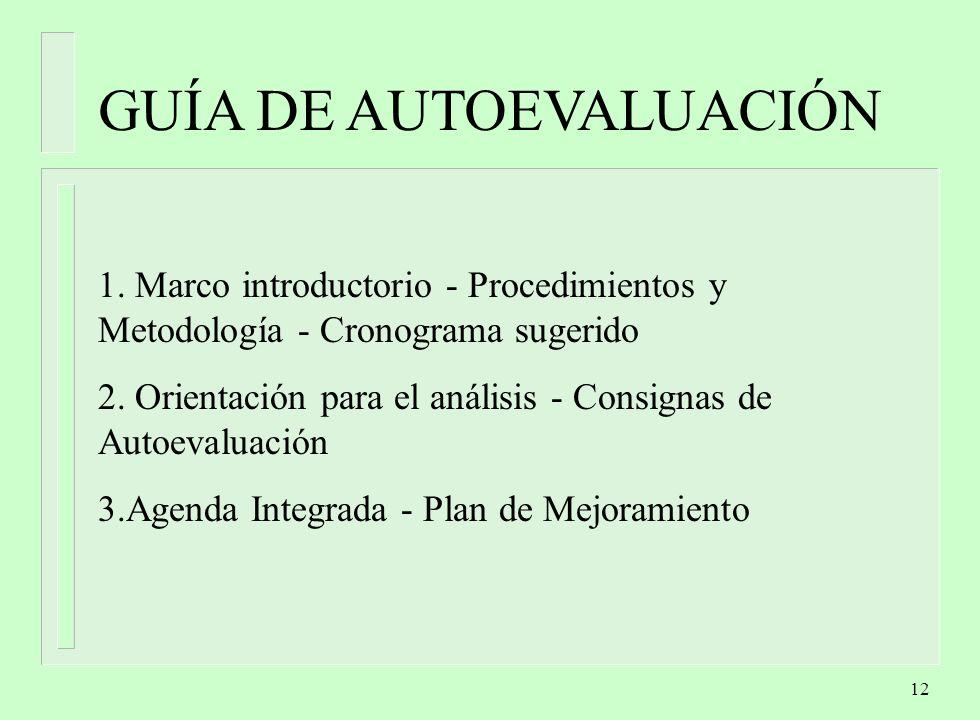 12 GUÍA DE AUTOEVALUACIÓN 1.