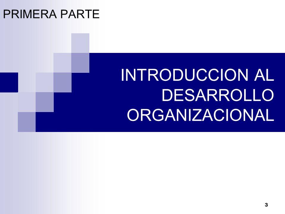 3 INTRODUCCION AL DESARROLLO ORGANIZACIONAL PRIMERA PARTE