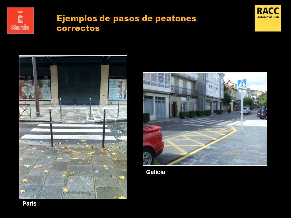 París Galicia Ejemplos de pasos de peatones correctos