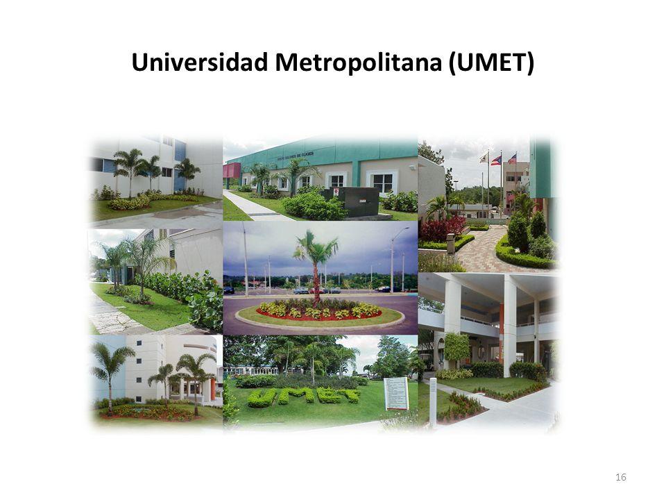 16 Universidad Metropolitana (UMET)