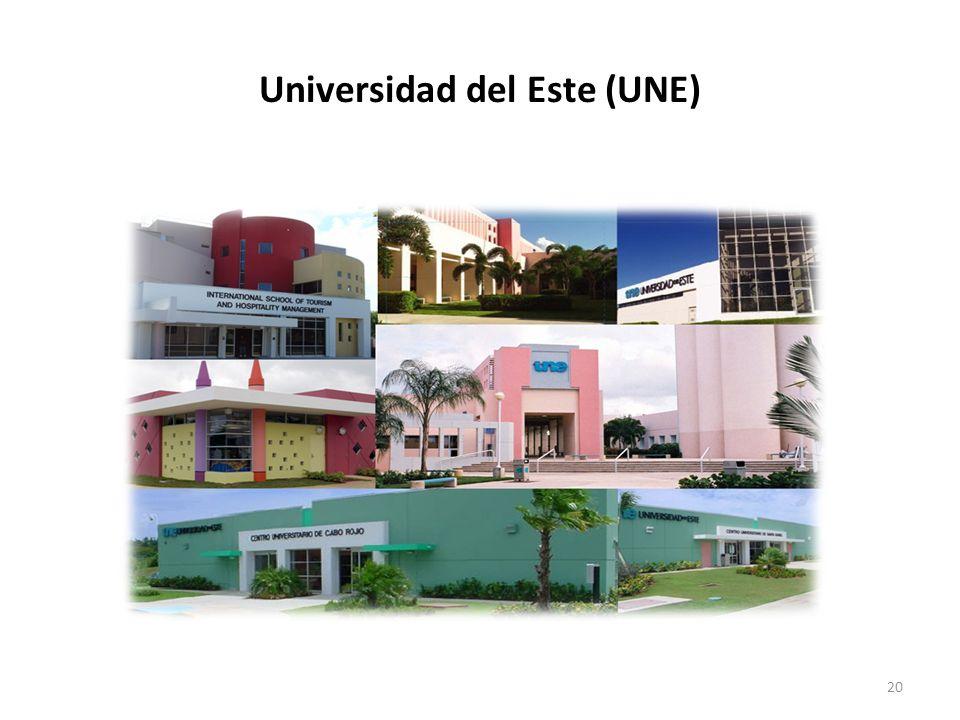 20 Universidad del Este (UNE)