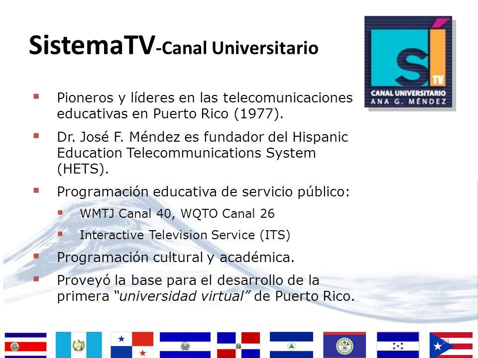 34 Pioneros y líderes en las telecomunicaciones educativas en Puerto Rico (1977). Dr. José F. Méndez es fundador del Hispanic Education Telecommunicat