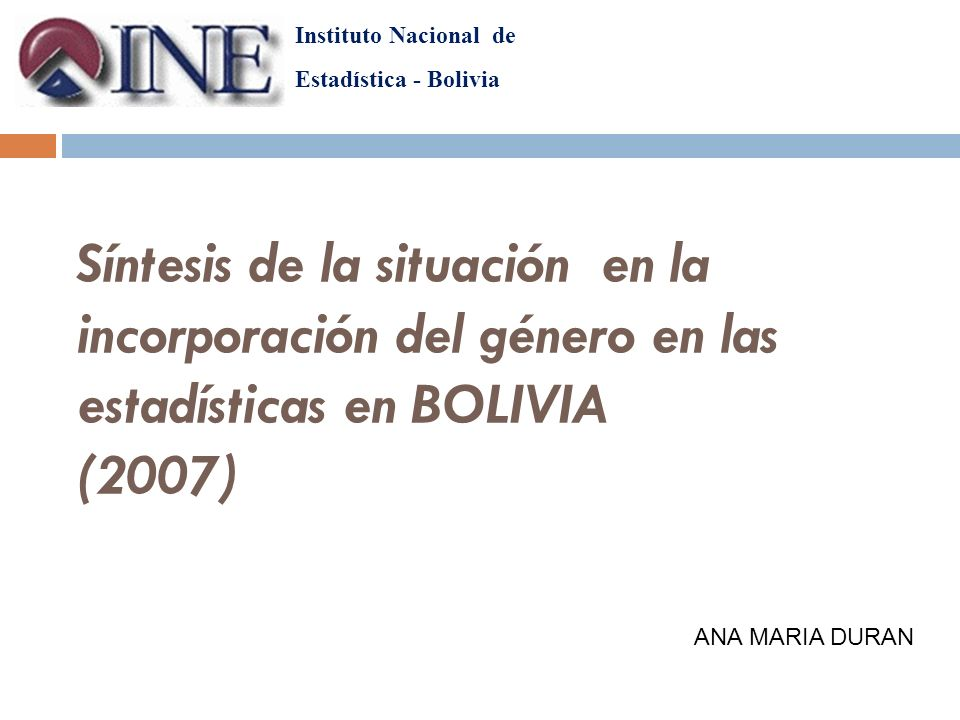 La institucionalización de la perspectiva de género en la producción estadística del país El INE ha definido tres ejes estratégicos que guiaran su trabajo a lo largo del periodo 2005-2009, denominado.