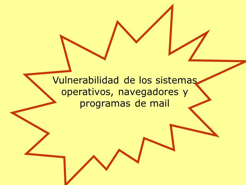 Vulnerabilidad de los sistemas operativos, navegadores y programas de mail