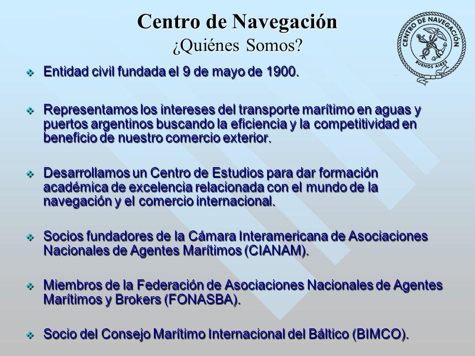 Centro de Navegación ¿Quiénes Somos. Entidad civil fundada el 9 de mayo de 1900.
