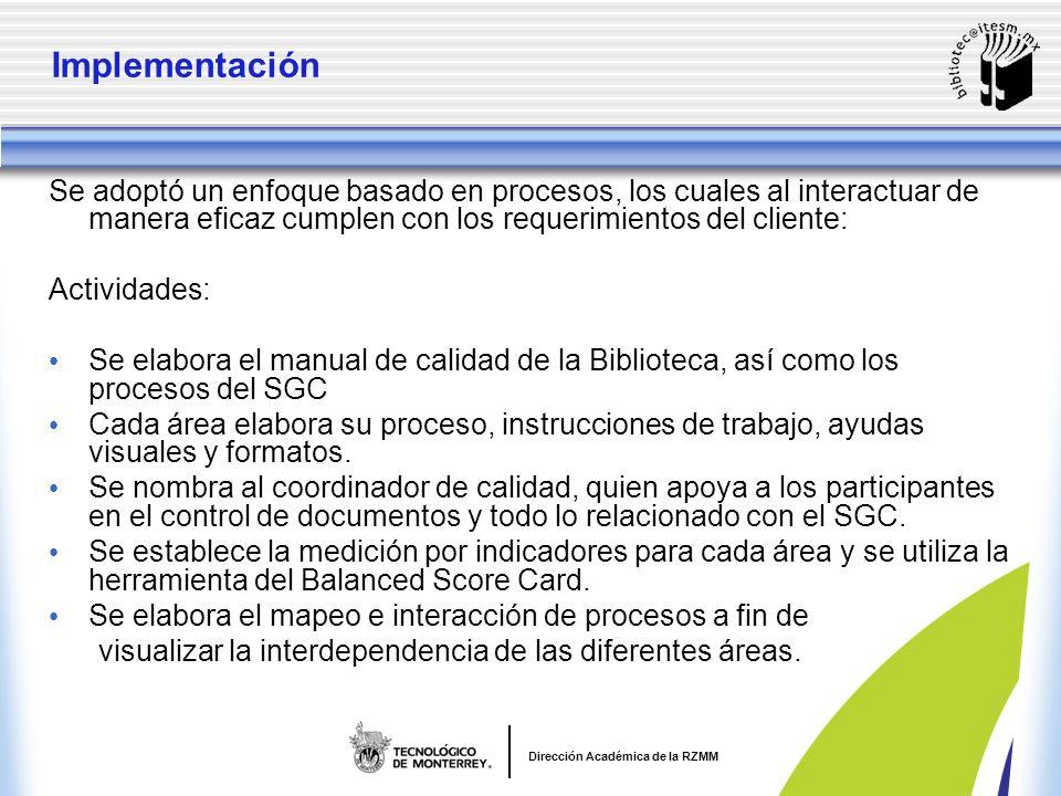 Dirección Académica de la RZMM Propósito.