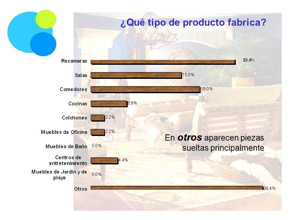 ¿Qué tipo de producto fabrica En otros aparecen piezas sueltas principalmente
