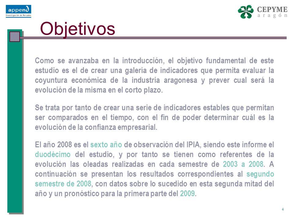 25 Indicador de Percepción – Ola 12 2S08 3 ÍNDICE IPIA SECTOR METAL Nota: En los valores en rojo, se ha sustituido VENTAS por CARTERA DE PEDIDOS.