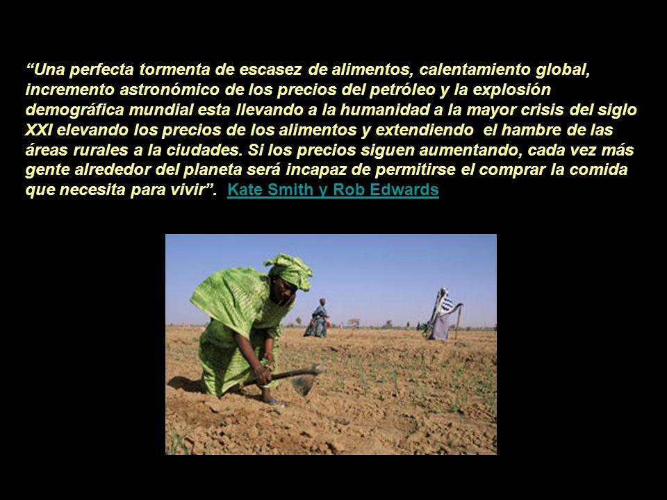 CRISIS ALIMENTARIA La crisis rural es universal, se da en todos los continentes. Es el modelo económico neoliberal de producción intensiva el que la h