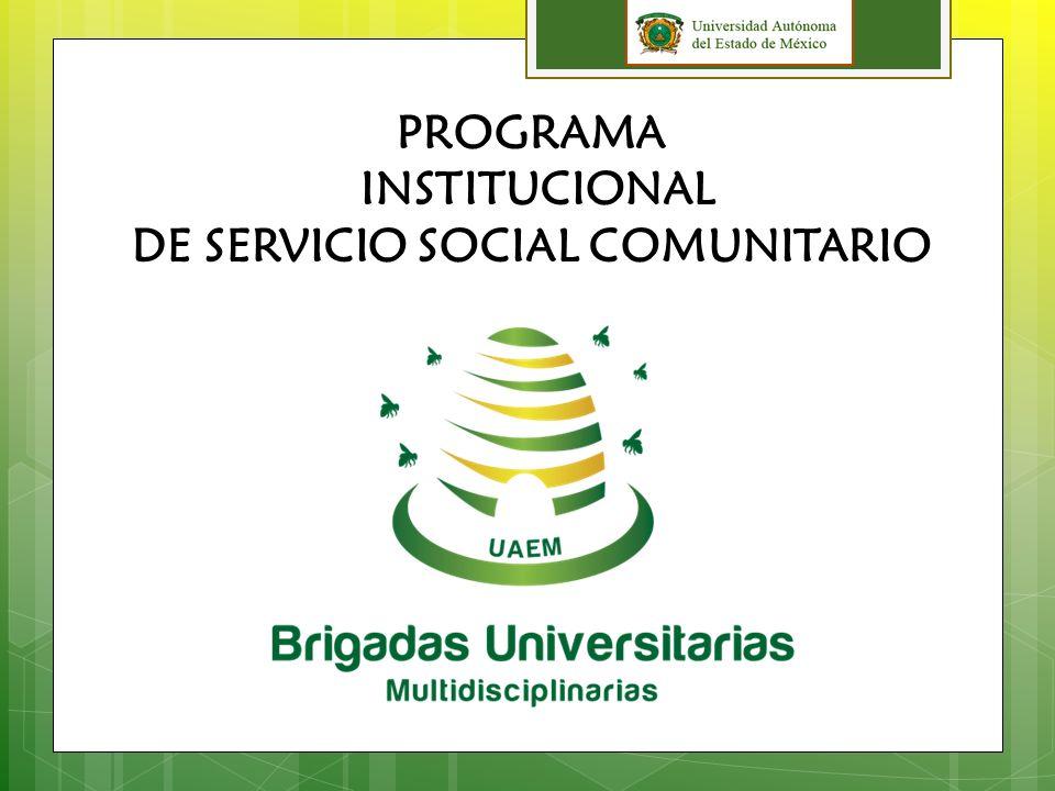 MODALIDADES DE SERVICIO SOCIAL EN LA UAEM * Individual o colectivo * Interno o externo * Disciplinario, interdisciplinario y multidisciplinario