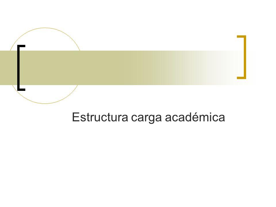 Estructura carga académica
