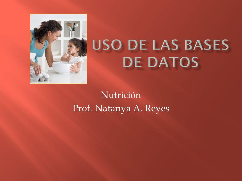 Nutrición Prof. Natanya A. Reyes