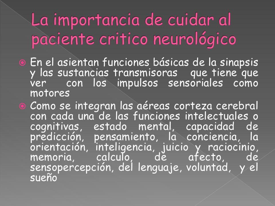 En el asientan funciones básicas de la sinapsis y las sustancias transmisoras que tiene que ver con los impulsos sensoriales como motores Como se inte