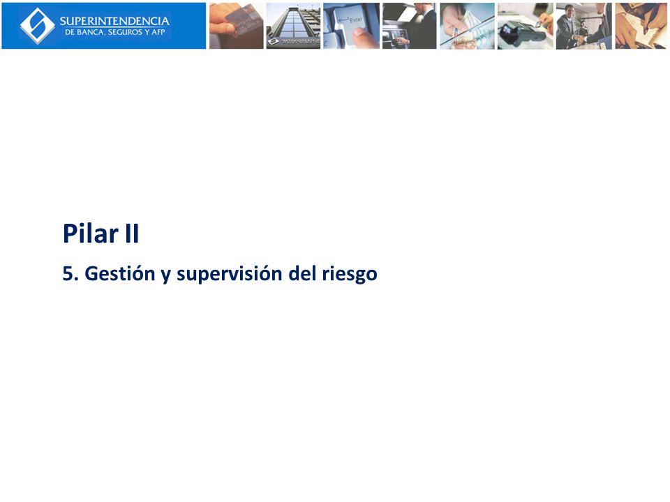 Pilar II 5. Gestión y supervisión del riesgo