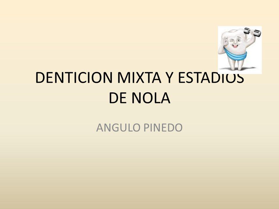 DENTICION MIXTA Y ESTADIOS DE NOLA ANGULO PINEDO