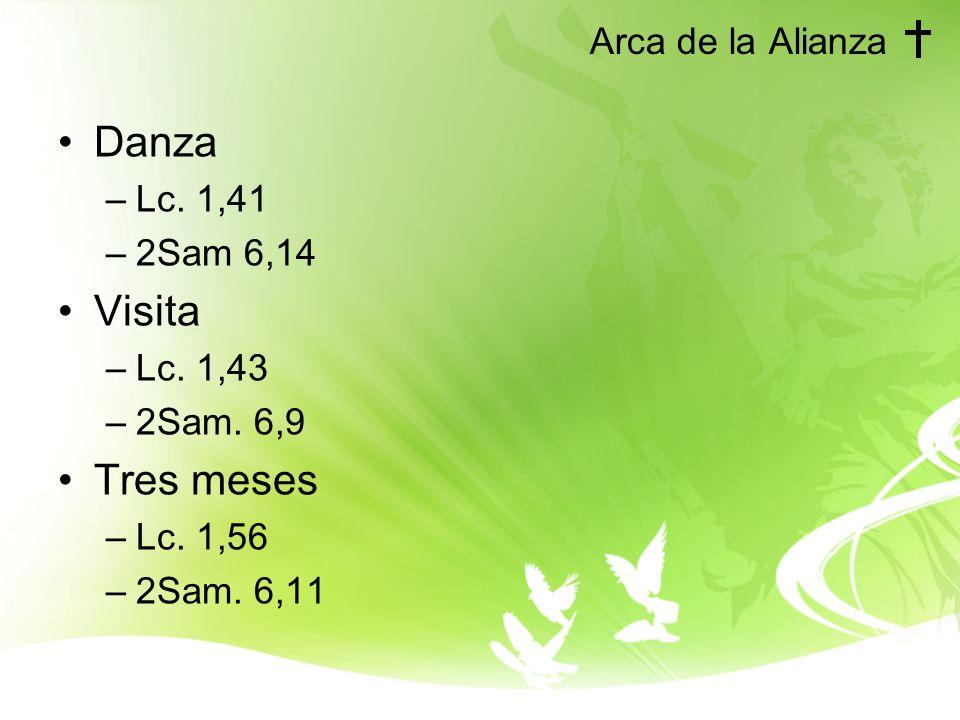 Arca de la Alianza Danza –Lc.1,41 –2Sam 6,14 Visita –Lc.