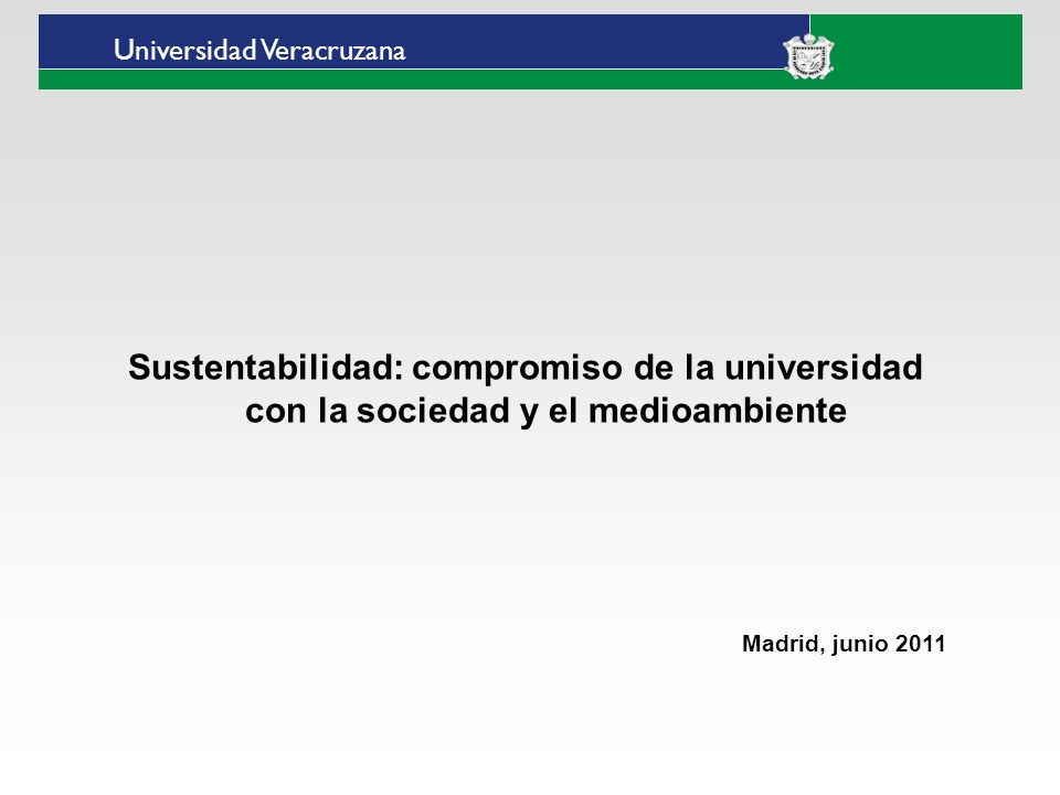 Universidad Veracruzana Estado de Veracruz