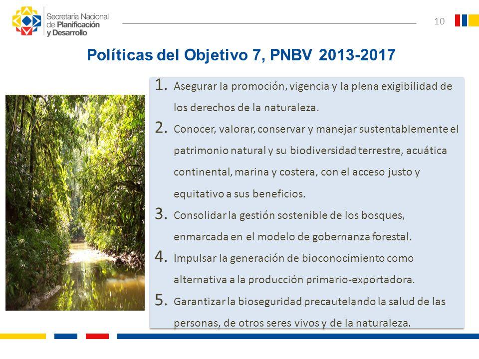 1. Asegurar la promoción, vigencia y la plena exigibilidad de los derechos de la naturaleza. 2. Conocer, valorar, conservar y manejar sustentablemente