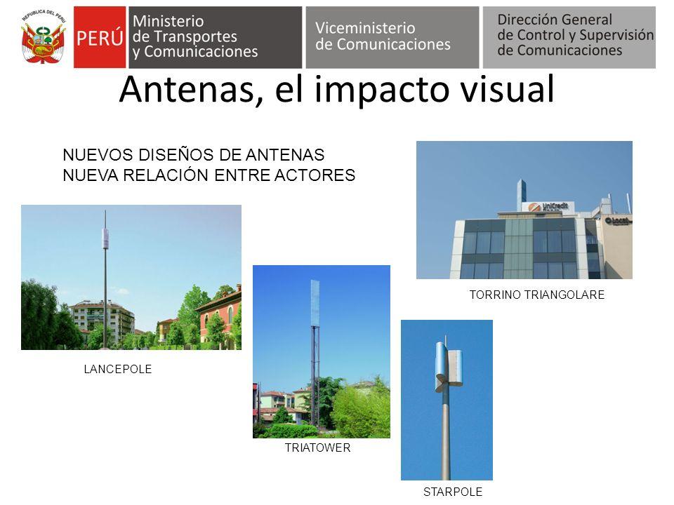 Antenas, el impacto visual TRIATOWER LANCEPOLE STARPOLE TORRINO TRIANGOLARE NUEVOS DISEÑOS DE ANTENAS NUEVA RELACIÓN ENTRE ACTORES