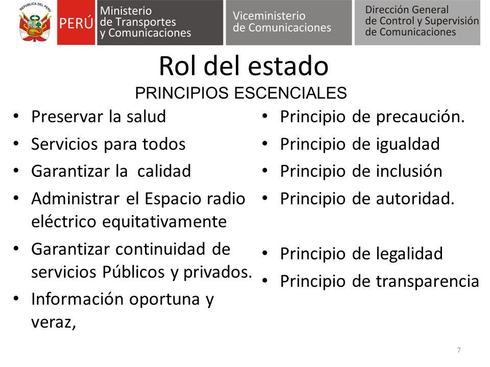 Políticas y estándares 1.Sustento técnico y científico.