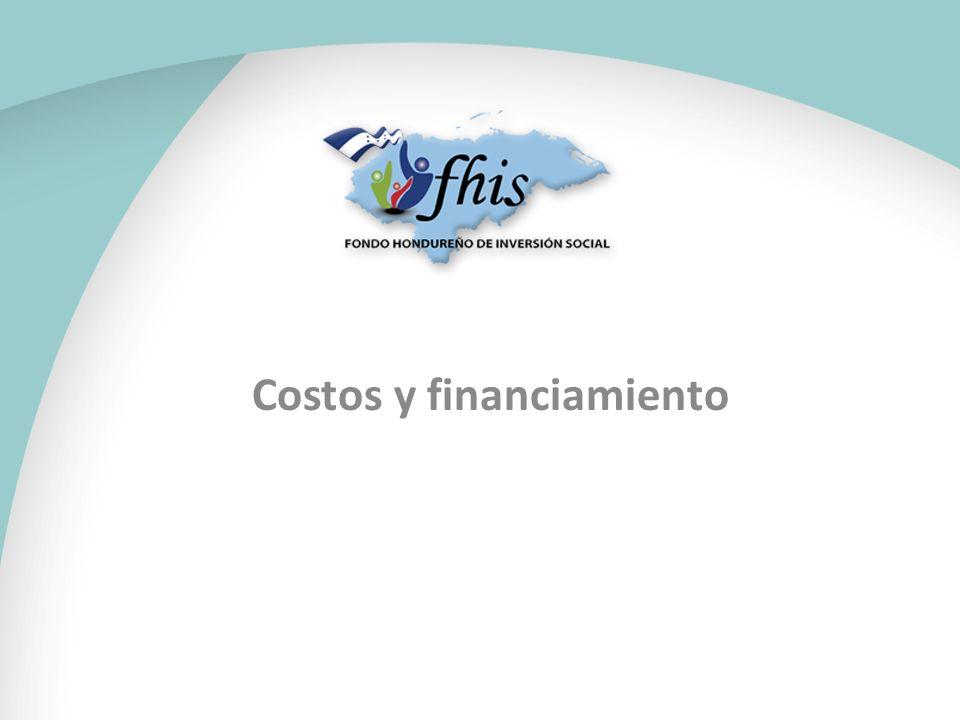 Costos y financiamiento