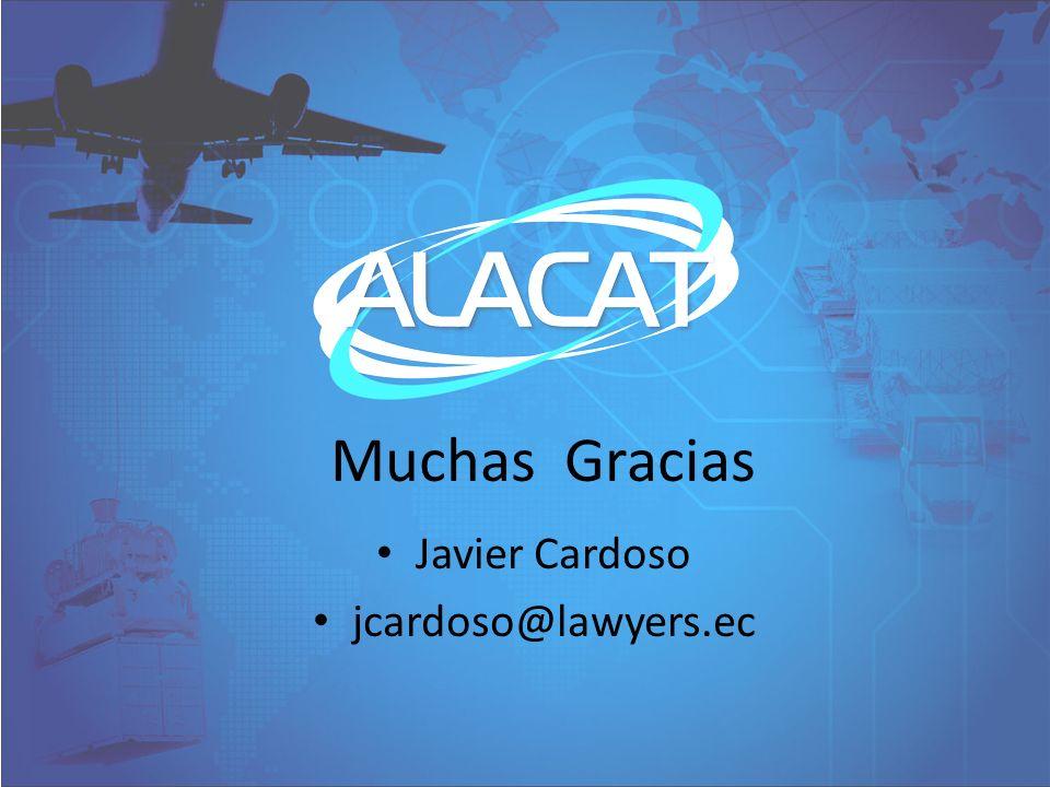 Muchas Gracias Javier Cardoso jcardoso@lawyers.ec