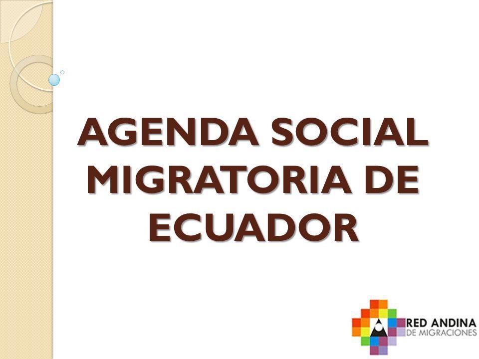 INTRODUCCIÓN La Agenda Social Migratoria (ASM) Ecuador es un instrumento político- técnico que establece la posición de las Organizaciones de la Sociedad Civil (OSC) vinculadas a la RAM en torno a las diversas situaciones y modalidades relacionadas con la Movilidad Humana.