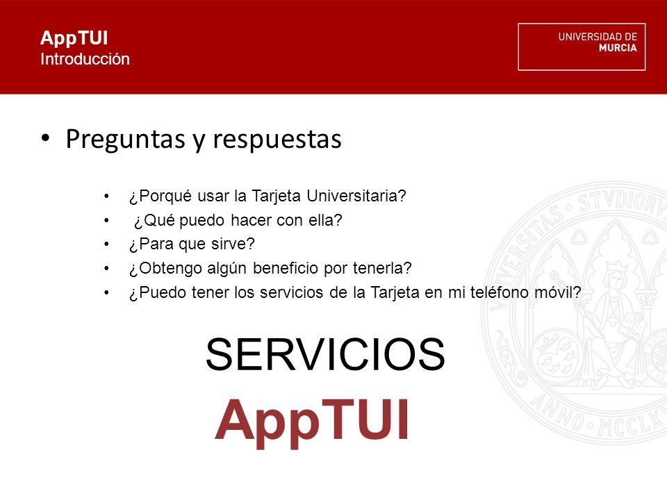 AppTUI Arquitectura SERVICIOS AppTUI UNIVERSIDADEMPRESA USUARIO (alumno, PAS, PDI ) Website Empresas Website Universidad AppBusiness VENTAJAS Y PROMOCIONES